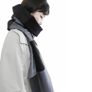 192ASF04 Jersey scarf 'patchwork' ストール