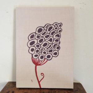 ファブリックボード「鶏頭の花」