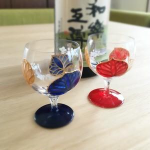 【葵】ペアあおい日本酒グラス ガラスのお猪口/父の日ギフト・誕生日プレゼント