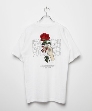 S20 FUCK YOU ROSE Embroidery T-shirt [White]