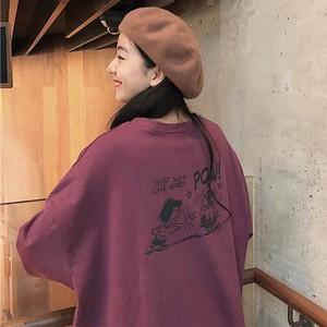 【トップス】配色動物柄清新キュートラウンドネックTシャツ26677207