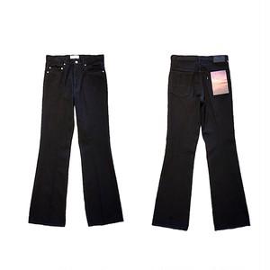 OW FLARE DENIM PANTS -BLACK- / JieDa