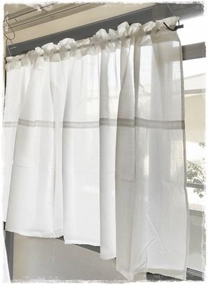 ♥綿ローン*ロッドポケットカーテン【バランス付き】W144×H70 ♥現品限りセール中!