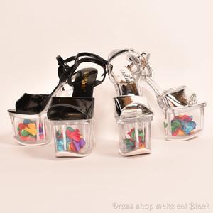 17.5cmヒール オープントゥパンプス足首ベルト付 2色展開 ¥13,824- (税込み) ma-740 ドレス 結婚式 パーティー お呼ばれ