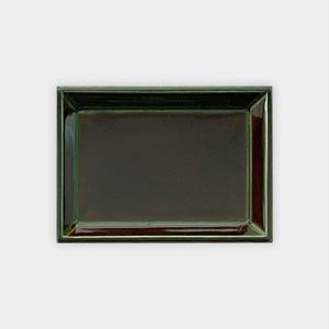 角小皿・緑