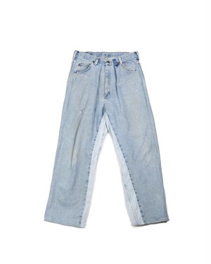 remake wide denim pants (ice)