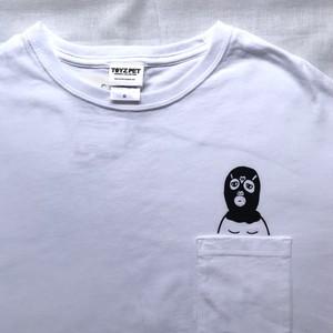 【2021年Tシャツ展】TOYZPET「ポケットTレスラー」Tシャツ  メンズS・M・Lサイズ(Unisex)【ハンドメイドTシャツ・作家作品】