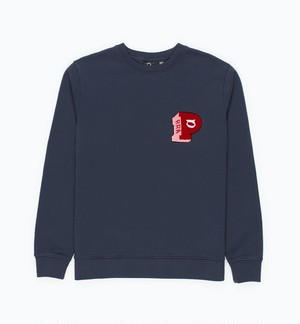 by Parra - block P crew neck sweatshirt (Navy Blue)
