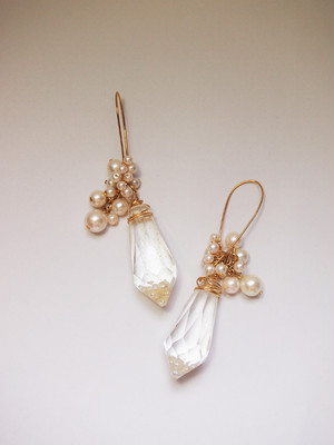crystal pierced earrings [A]