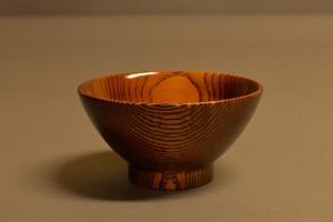 A-02104 「拭き漆茶椀」 有岡 成員