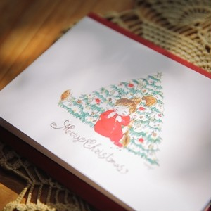「林檎のクリスマスツリー」カード