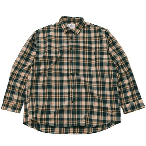 AUTUMN CHECK SHIRT(GREEN*PALE ORANGE)