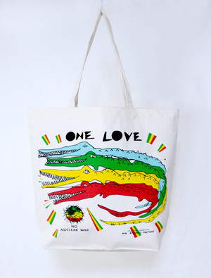 ONE LOVE  canvas eco bag