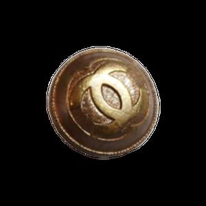 【VINTAGE CHANEL BUTTON】ココマークアンティークゴールドボタン 14mm C-19202