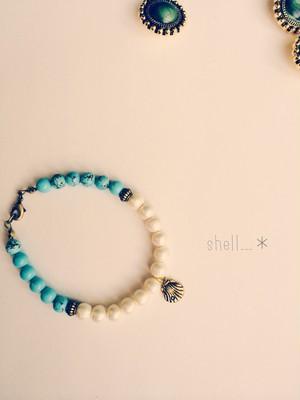 bicolor bracelet☆ シェル