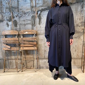 HYKE【ハイク】 LONG-SLV DRESS (NAVY).