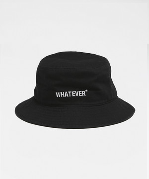 WHATEVER* Bucket Hat [Black]