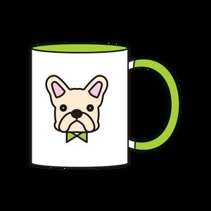 2トーンマグカップ(クリーム)_グリーン