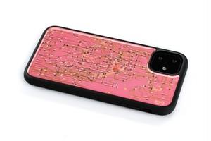 FLASH 東京回路線図 iPhone 11 ケース ピンク【東京回路線図A5クリアファイルをプレゼント】