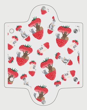 トコロコムギのフルーツアニマル・いちごマルチケース