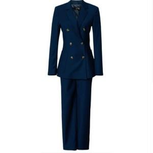 送料無料/スーツセットアップ/青/ダブルボタン/ジャケット+パンツ
