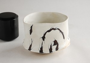 山田浩之 オランダ彩色茶碗(木箱付)Dutch coloring tea bowl (with wooden box)