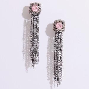 pink long earring