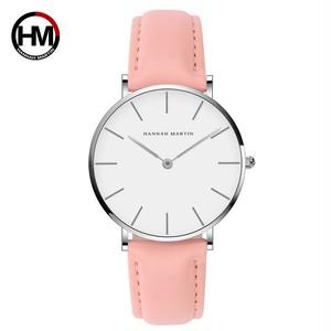 ジャパンクォーツシンプルな女性のファッション時計ホワイトレザーストラップレディース腕時計ブランド防水腕時計36mmCB36-YF