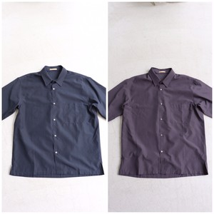 LAMOND 【ラモンド】WIDE SHIRTS NAVY/CHACOAL