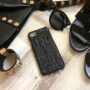 牛革型押しクロコ BLACK   i phone case 6 /6s /7 /6plus /7plus