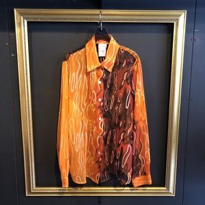 orange firedesign shirt [B1679]