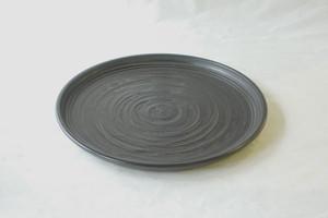 讃岐塗 木製 丸盆 ホーロク型 象谷塗 1尺2寸(36㎝)