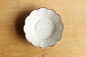 菊花鉢(粉引き)φ14cm 水口耕一