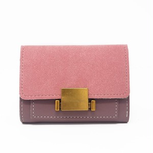 Wallet PU Leather Purse Card Holder Wallet Color Clutch ショート レザー 財布 パスケース ウォレット (HF99-5754999)