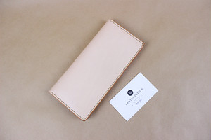JAPAN LANSUI DESIGN 名入れ対応 ヌメ革手作り手縫い 8カード長財布 品番JNDDF9J0JIEAKF2