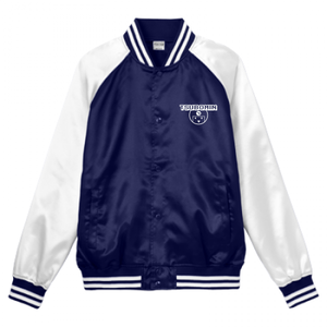 TSUBOMIN / TSUBOMIN ICON STADIUM JACKET NAVY x WHITE