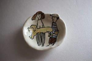 室井雑貨屋(室井夏実)|豆皿 ボクとワタシと犬
