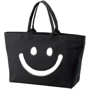 RAKUGAKI BIG SMILE Tote Bag Black
