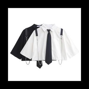 【お取り寄せ】チェーンベルト ショート シャツ 2色