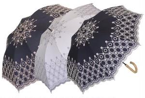 傘 日傘 レディース 手開きパラソル オーナメントサークル刺繍 47cm