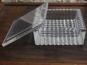 ガラス製 灰皿 蓋付き ドット柄