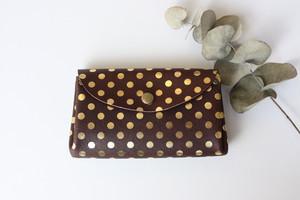 ピッグスキンの小さなお財布 みずたま チョコレート