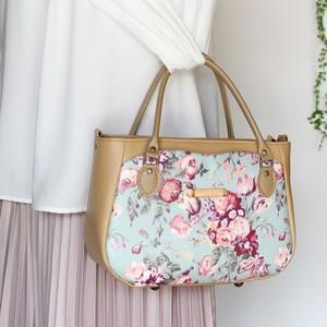クラシカルな絵画のような花柄のリバティプリント【Magical Bouquet】を使ったトートバッグ