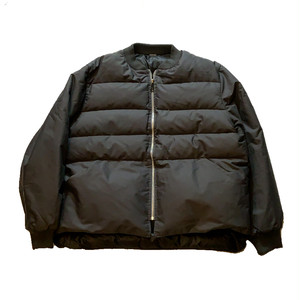 """OLD unknown """"身幅70cm UP"""" reversible down  jacket"""