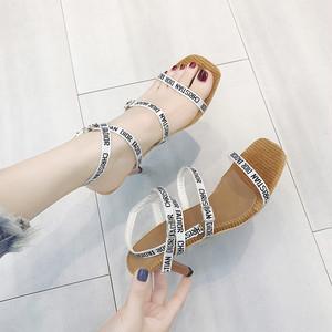 【sandal】2018 summer new Korean fashion  high heels open toe sandal
