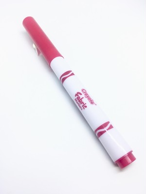 Crayola Fine Line Fabric Marker BloodRed