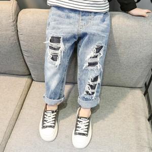 【ボトムス】カジュアル切り替えファッションレギュラーウエストジーンズ27038192