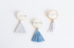 silk tassel lace broach 全3色