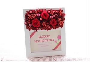 【令和初の母の日ギフトに♥】母の日赤のフラワーフォトフレーム