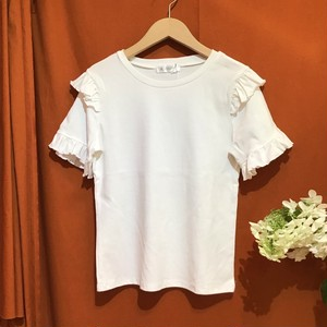 Ruffle Sleeve T-shirt   Color : White